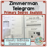 Zimmerman Telegram Primary Source Lesson