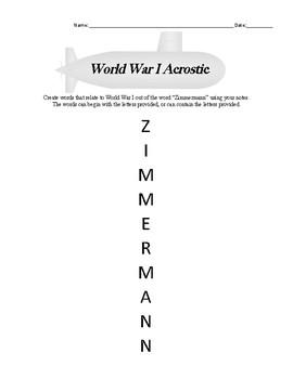 Zimmermann Acrostic