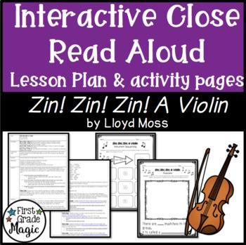 Zin! Zin! Zin! A Violin Interactive Repeated Close Read Aloud Lesson Plan