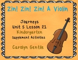 Zin! Zin! Zin! a Violin Journeys Unit 5 Lesson 21 Kindergarten Supp. Act.