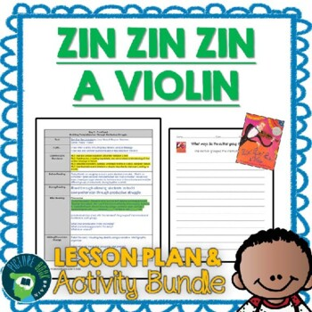 Zin Zin Zin a Violin by Lloyd Moss Lesson Plan and Activities