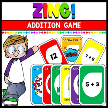 Zing! an Uno inspired Addition Math Game