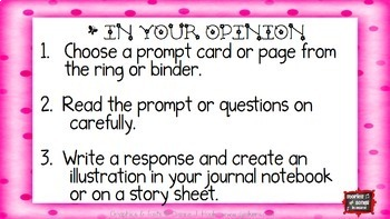 Zing Into Spring Writing Prompt Task Cards and Printables--Opinion {FREEBIE}