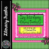Zing Into Spring Writing Prompt Task Cards and Printables-