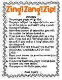 Zing! Zang! Zip! An addition and subtraction board game!