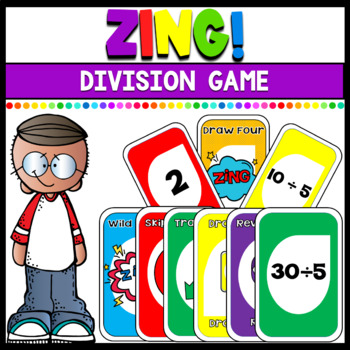 Division Math Game: Zing! (Plays similar to Uno)