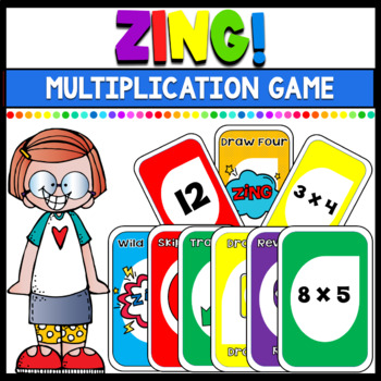 Multiplication Math Game: Zing! (Plays similar to Uno)