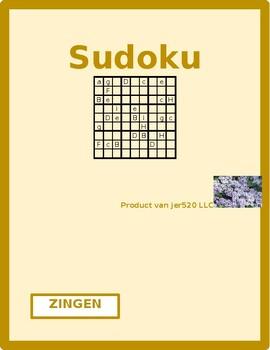 Zingen Dutch verb Sudoku
