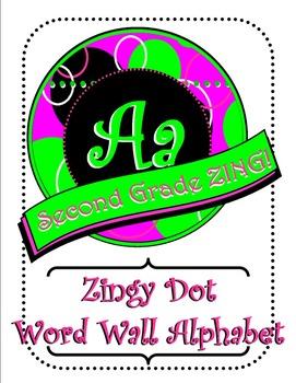 Pink Zingy Dots Word Wall Alphabet