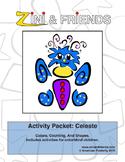 Colors, Counting, Shapes: Zini And Friends Celeste Activit