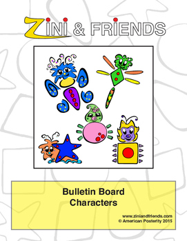 Zini And Friends Character Bulletin Board Packet