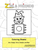 Zini And Friends Coloring Sheets