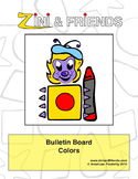 Zini And Friends Colors Bulletin Board Packet