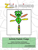 Colors, Counting, Shapes: Zini And Friends Fuego Activity Packet