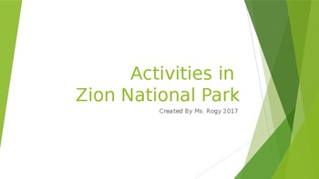 Zion National Park Powerpoint