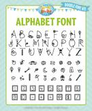 Zip-A-Dee-Doo-Dah Designs Alphabet Doodle Font 11 — Includ