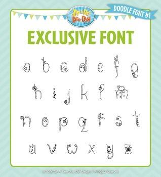 Zip-A-Dee-Doo-Dah Designs Doodle Font 1 — Includes Commercial License!