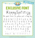 Zip-A-Dee-Doo-Dah Designs Doodle Font 1 — Includes Commerc