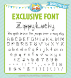 Zip-A-Dee-Doo-Dah Designs Doodle Font 10 — Includes Commer