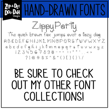 Zip-A-Dee-Doo-Dah Designs Doodle Font 2 — Includes Commercial License!