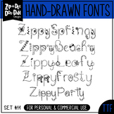 Zip-A-Dee-Doo-Dah Designs Doodle Font 2 — Includes Commerc