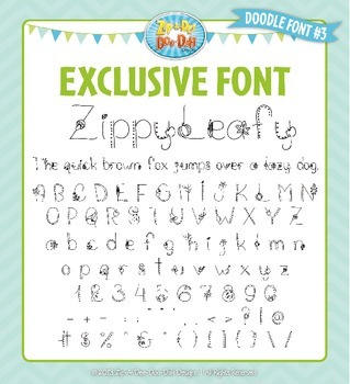 Zip-A-Dee-Doo-Dah Designs Doodle Font 3 — Includes Commercial License!