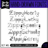 Zip-A-Dee-Doo-Dah Designs Doodle Font 4 — Includes Commercial License!