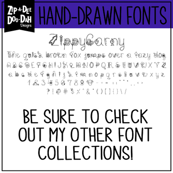 Zip-A-Dee-Doo-Dah Designs Doodle Font 4 — Includes Commercial License!