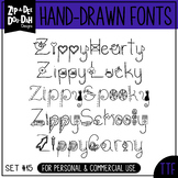 Zip-A-Dee-Doo-Dah Designs Doodle Font 4 — Includes Commerc