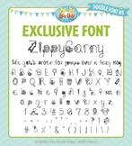 Zip-A-Dee-Doo-Dah Designs Doodle Font 5 — Includes Commercial License!