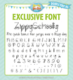 Zip-A-Dee-Doo-Dah Designs Doodle Font 6 — Includes Commerc