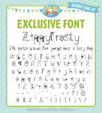 Zip-A-Dee-Doo-Dah Designs Doodle Font 7 — Includes Commerc