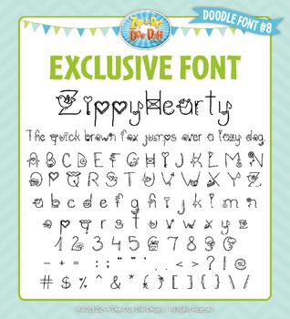 Zip-A-Dee-Doo-Dah Designs Doodle Font 8 — Includes Commercial License!