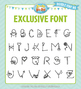 Zip-A-Dee-Doo-Dah Designs Doodle Font 8 — Includes Commerc
