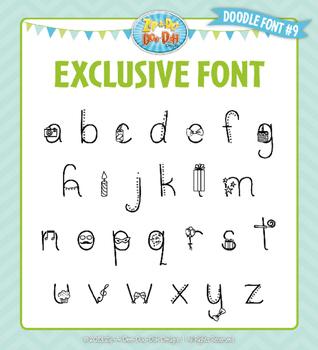 Zip-A-Dee-Doo-Dah Designs Doodle Font 9 — Includes Commercial License!