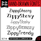 Zip-A-Dee-Doo-Dah Designs Font Collection 1 — Includes Com