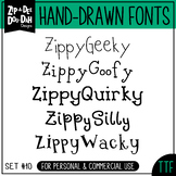 Zip-A-Dee-Doo-Dah Designs Font Collection 10 — Includes Co