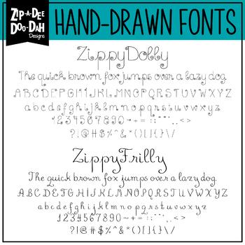 Zip-A-Dee-Doo-Dah Designs Font Collection 11 — Includes Commercial License!