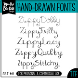 Zip-A-Dee-Doo-Dah Designs Font Collection 11 — Includes Commercial License!