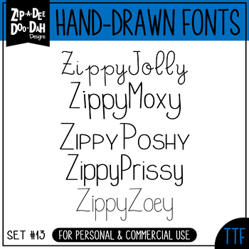 Zip-A-Dee-Doo-Dah Designs Font Collection 13 — Includes Commercial License!