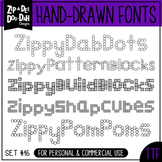 Zip-A-Dee-Doo-Dah Designs Font Collection 16 — Includes Co