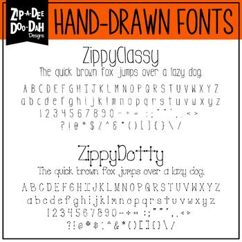 Zip-A-Dee-Doo-Dah Designs Font Collection 2 — Includes Commercial License!