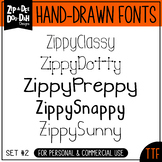 Zip-A-Dee-Doo-Dah Designs Font Collection 2 — Includes Com