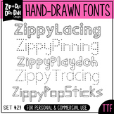 Zip-A-Dee-Doo-Dah Designs Font Collection 21 — Includes Co