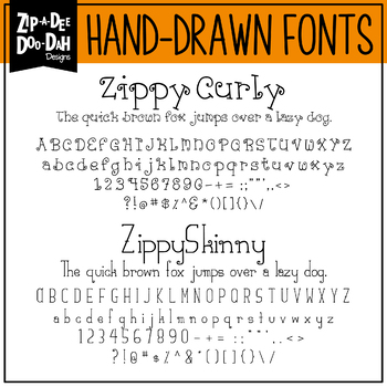 Zip-A-Dee-Doo-Dah Designs Font Collection 3 — Includes Commercial License!