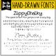 Zip-A-Dee-Doo-Dah Designs Font Collection 5 — Includes Commercial License!