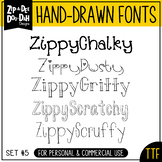 Zip-A-Dee-Doo-Dah Designs Font Collection 5 — Includes Com