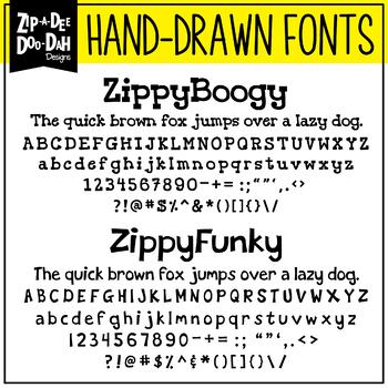 Zip-A-Dee-Doo-Dah Designs Font Collection 6 — Includes Commercial License!