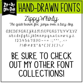 Zip-A-Dee-Doo-Dah Designs Font Collection 7 — Includes Commercial License!