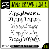 Zip-A-Dee-Doo-Dah Designs Font Collection 7 — Includes Commercial License!